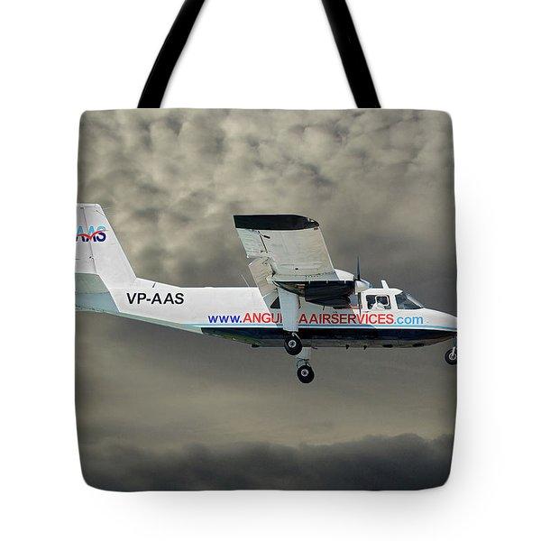 Anguilla Air Services Britten-norman Bn-2a-26 Islander 116 Tote Bag
