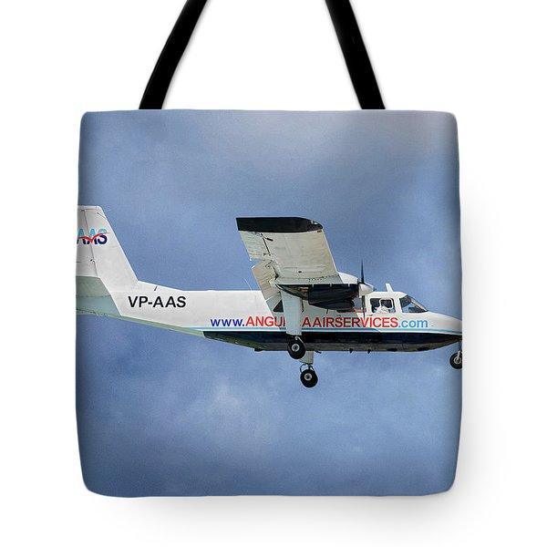 Anguilla Air Services Britten-norman Bn-2a-26 Islander 117 Tote Bag