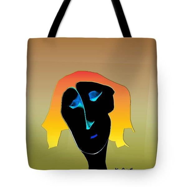 Tote Bag featuring the digital art Anguish by Asok Mukhopadhyay