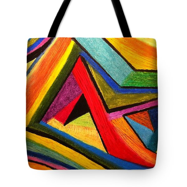 Angular Pull Tote Bag