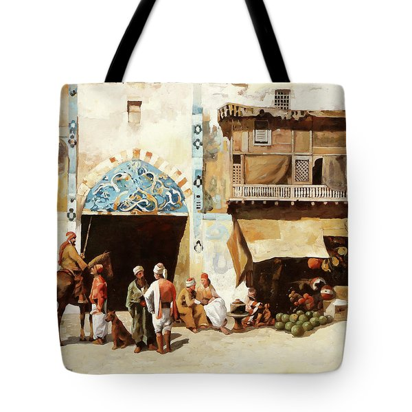 Angurie In Cortile Tote Bag
