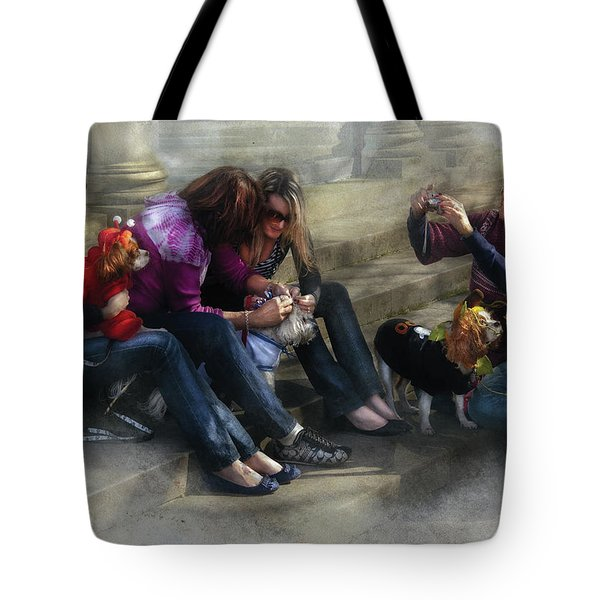 Animal - Dog - How To Humiliate A Dog Tote Bag by Mike Savad