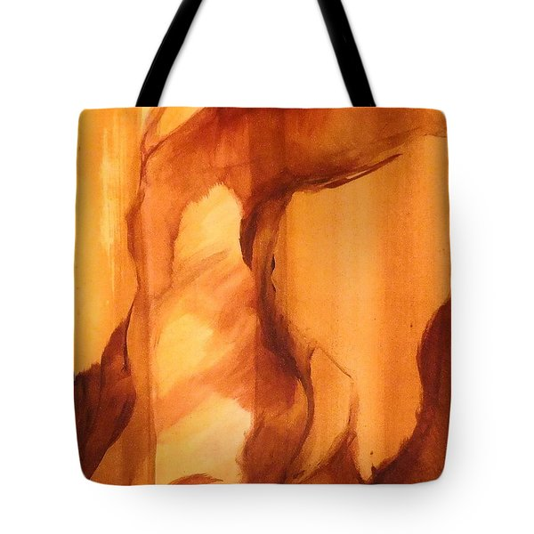 Tote Bag featuring the painting Animal by Denise Fulmer