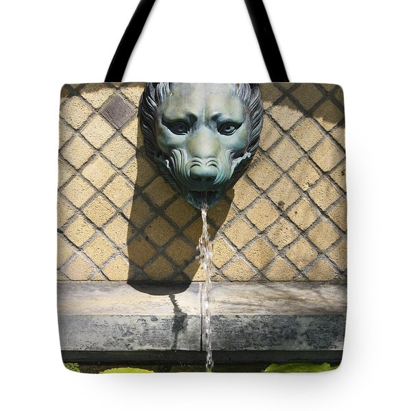 Animal Fountain Head Tote Bag by Teresa Mucha