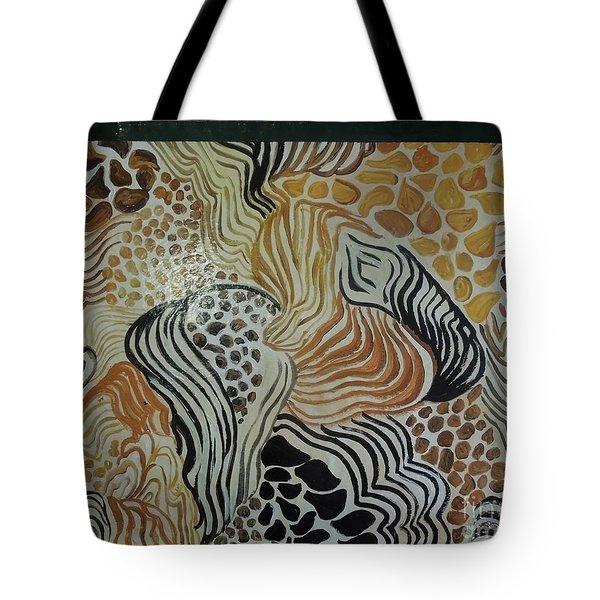 Animal Print Floor Cloth Tote Bag