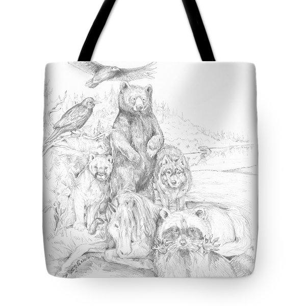 Animal Wisdom Tote Bag