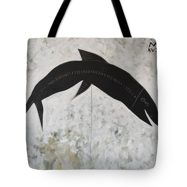 Animalia Black Fish Tote Bag