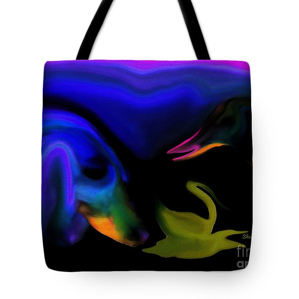 Tote Bag featuring the digital art animals Just Hanging Out With My Friends by Sherri  Of Palm Springs