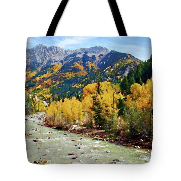 Tote Bag featuring the photograph Animas River San Juan Mtns, Co, Panorama by Kurt Van Wagner