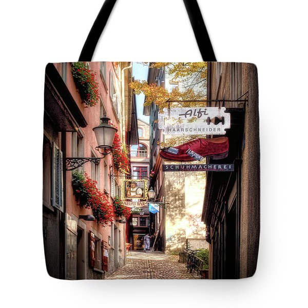 Ankengasse Street Zurich Tote Bag by Jim Hill