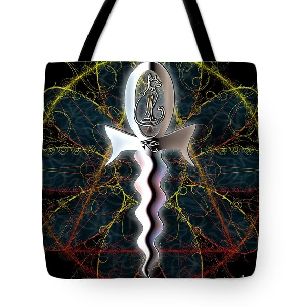 Ankh Dagger - Life And Death Tote Bag by Iowan Stone-Flowers