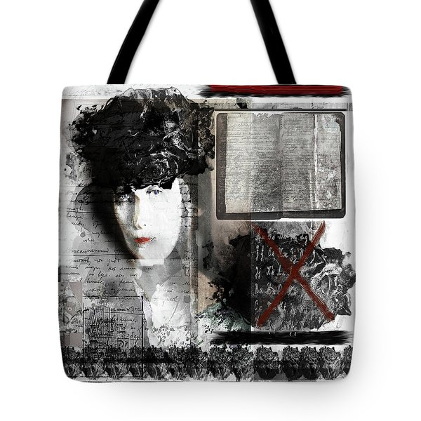 Anna Akhmatova On My Mind Tote Bag by Danica Radman