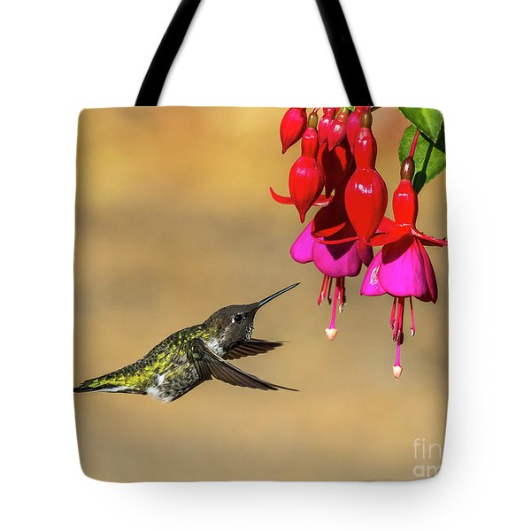 Anna And Hardy Fuchsia Flower Tote Bag