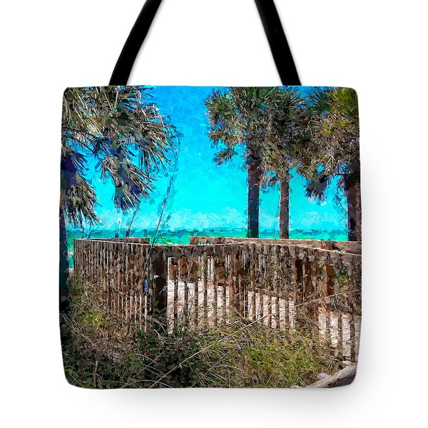 Anna Maria Boardwalk Access Tote Bag