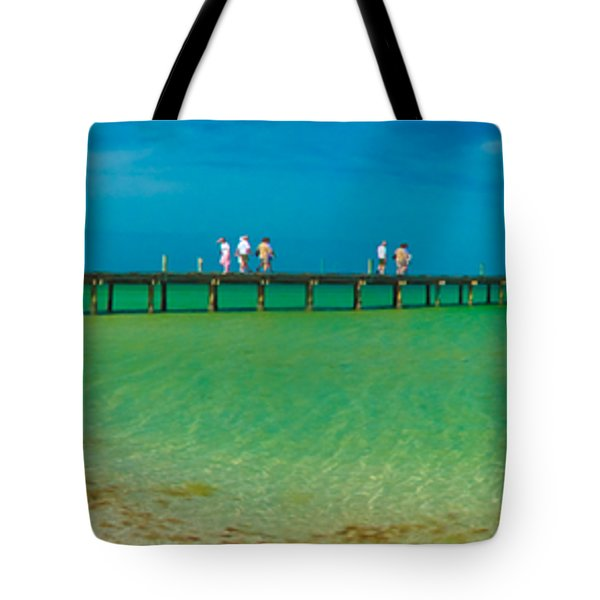 Anna Maria Island Historic City Pier Panorama Tote Bag