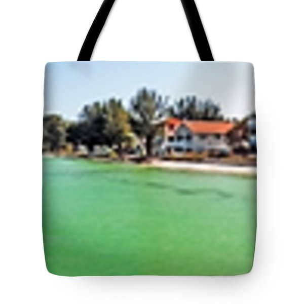 Anna Maria Island With Rod And Reel Pier Tote Bag