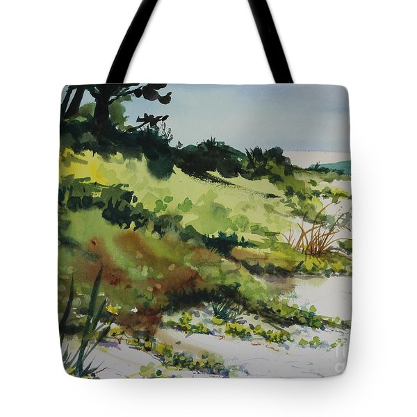 Tote Bag featuring the painting Anna Marie Island by Elizabeth Carr