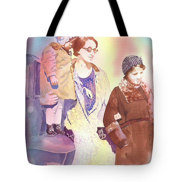 Anna Nation And Her Girls, 1932      Tote Bag