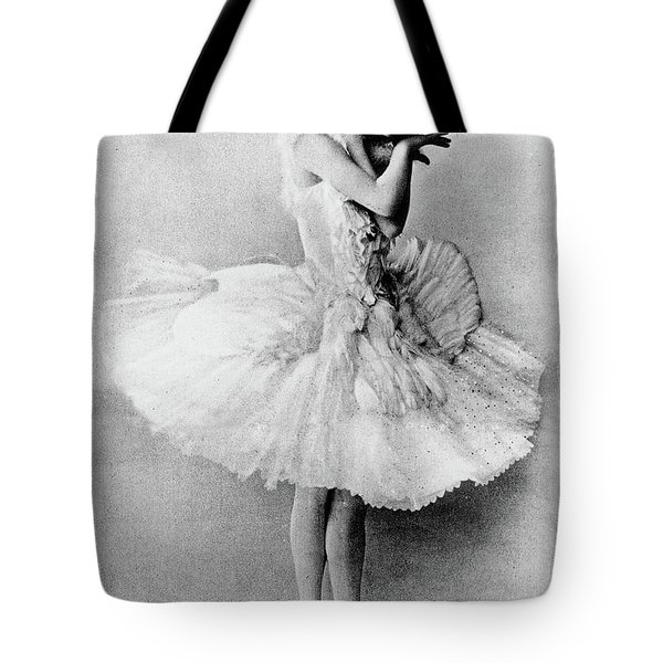 Anna Pavlova In The Role Of The Dying Swan Tote Bag