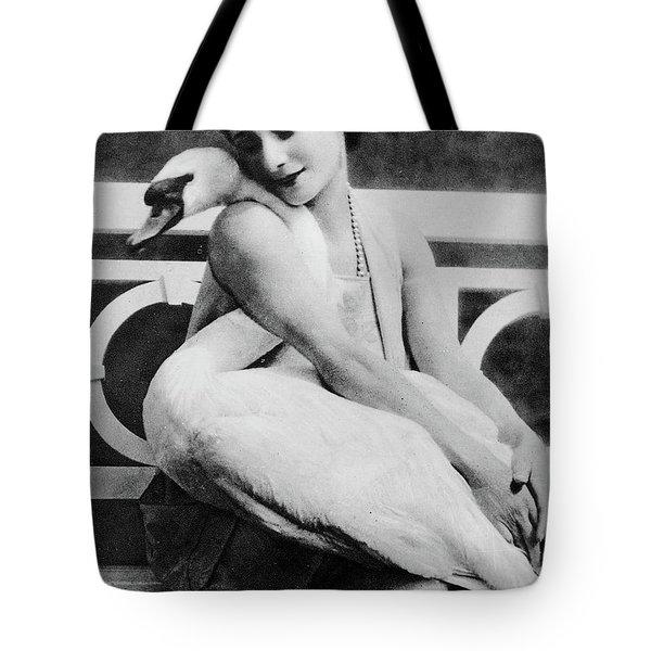 Anna Pavlova With Her Pet Swan Jack, 1905 Tote Bag