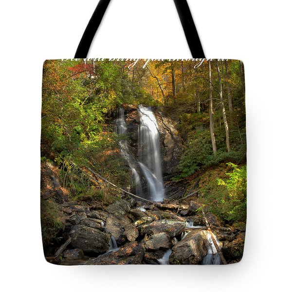 Tote Bag featuring the photograph Anna Rby Falls 3 by Penny Lisowski