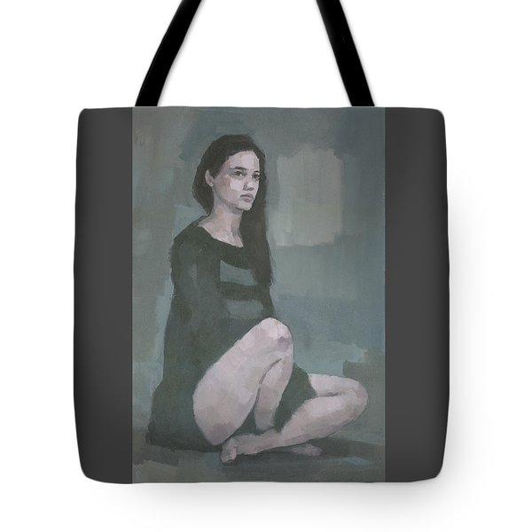Tote Bag featuring the painting Anna  by Steve Mitchell