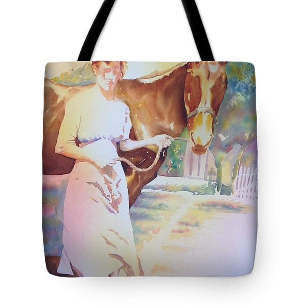 Anna Violet Stubblefield And Lightning Circa1913 Tote Bag
