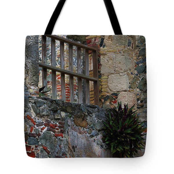 Tote Bag featuring the photograph Annaberg Ruin Brickwork At U.s. Virgin Islands National Park by Jetson Nguyen