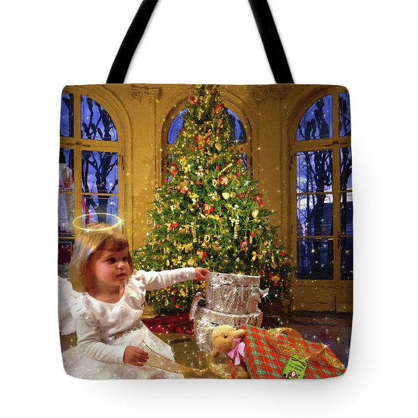 Annalise And Santa Tote Bag