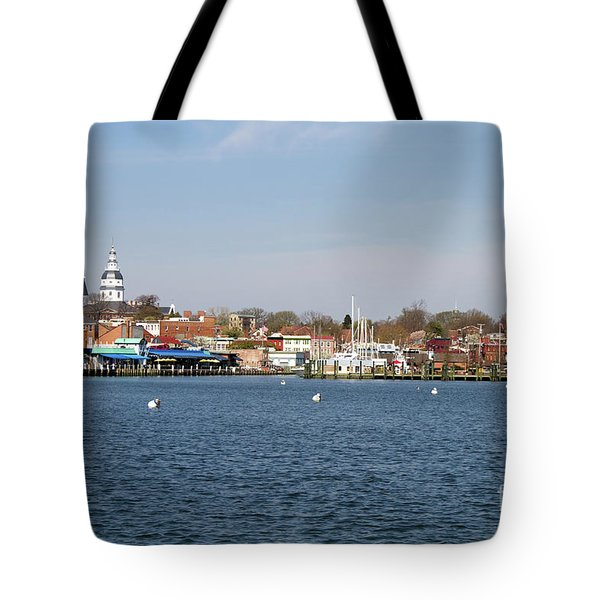 Tote Bag featuring the photograph Annapolis City Skyline by Steven Frame