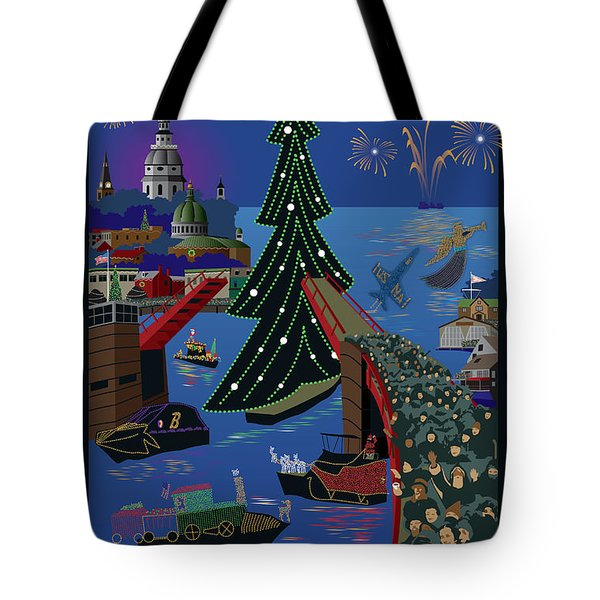 Annapolis Holiday Lights Parade Tote Bag