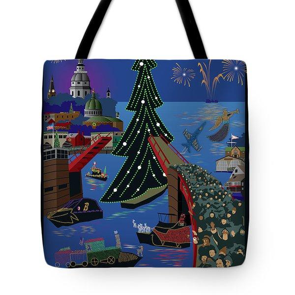 Annapolis Holiday Lights Parade Tote Bag