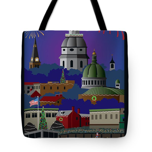 Annapolis Holiday With Title Tote Bag