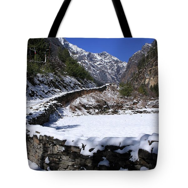 Tote Bag featuring the photograph Annapurna Circuit Trail by Aidan Moran