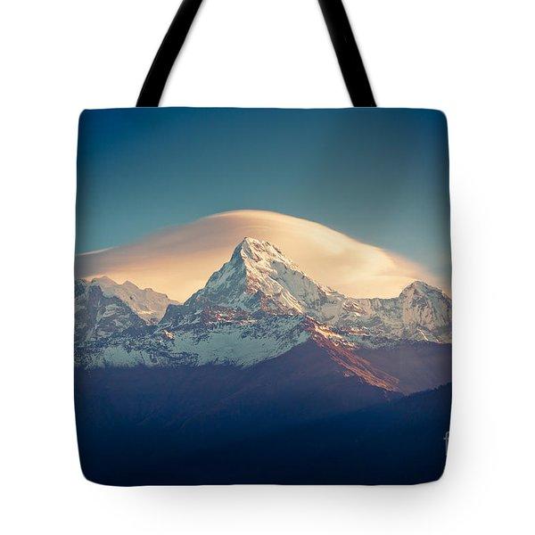 Annapurna Sunrise Himalayas Mountain Artmif Tote Bag