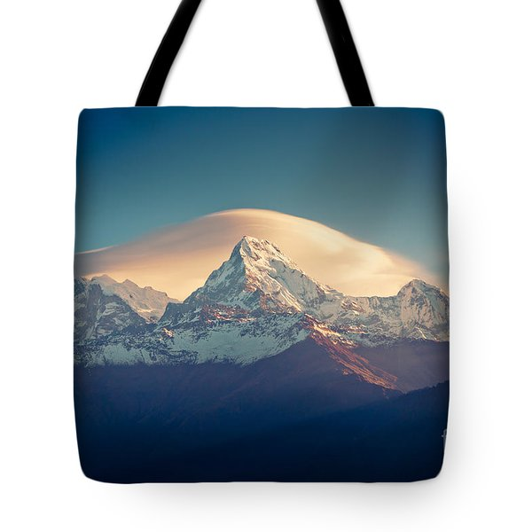 Annapurna Sunrise Himalayas Mountain Artmif Tote Bag
