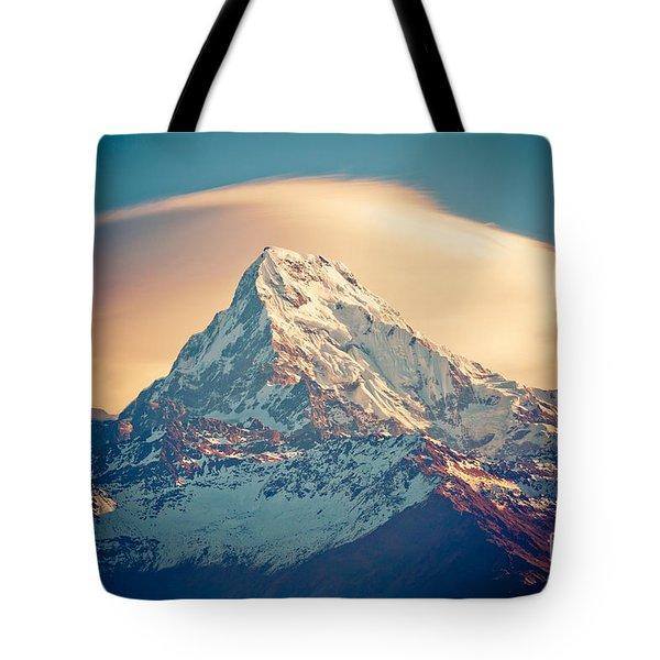 Annapurna Sunrise Himalayas Mountains Tote Bag