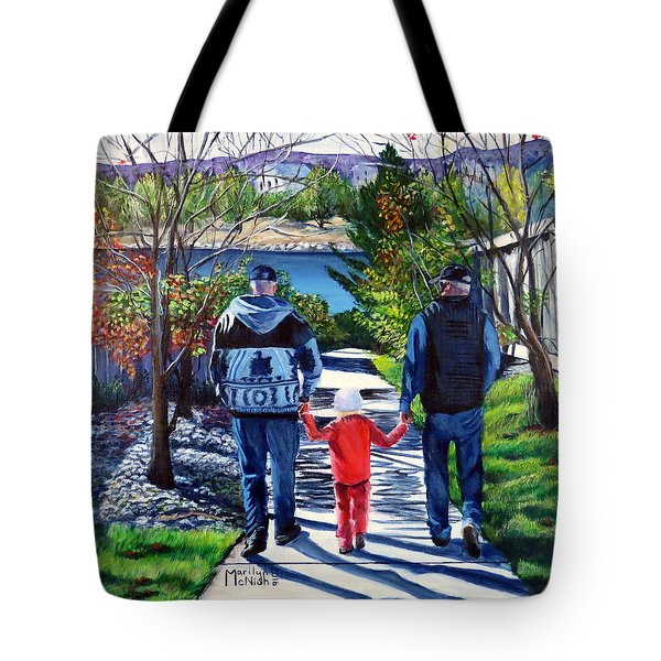 Anna's Grandpa's 2 Tote Bag by Marilyn McNish