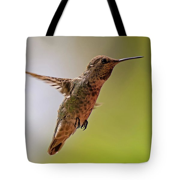 Tote Bag featuring the photograph Anna's Hummingbird H24 by Mark Myhaver