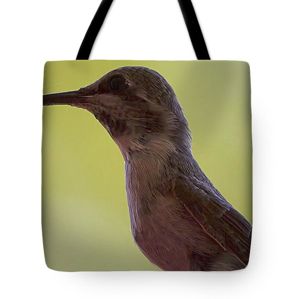 Tote Bag featuring the photograph Annas Hummingbird With Nectar by Anne Rodkin