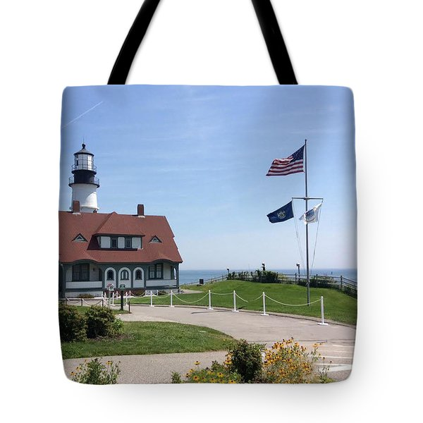 Portland Lighthouse ----- Edit Tote Bag