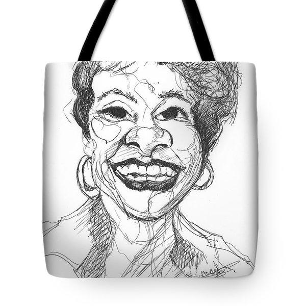 Annette Caricature Tote Bag