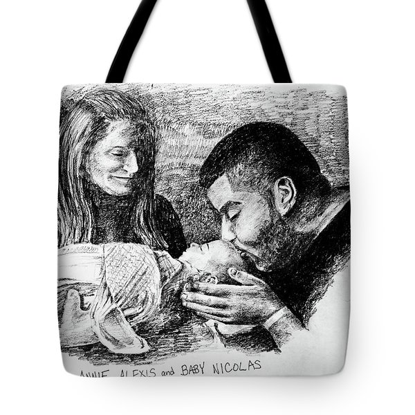 Annie Alexis And Nicolas Tote Bag