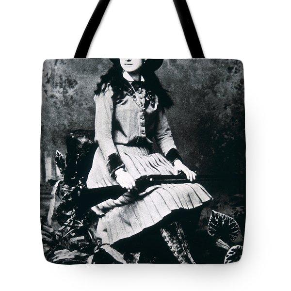 Annie Oakley  Star Of Buffalo Bill's Wild West Show Tote Bag