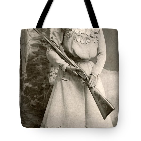 Annie Oakley With A Rifle Tote Bag