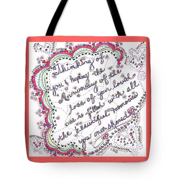 Anniversary Memorial Tote Bag