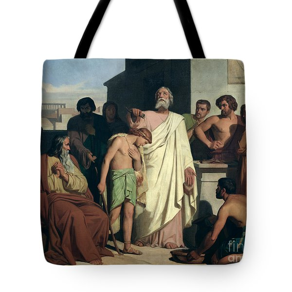 Annointing Of David By Saul Tote Bag by Felix-Joseph Barrias