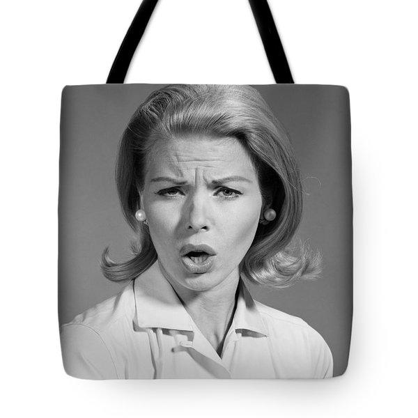 Annoyed Woman, C.1960s Tote Bag