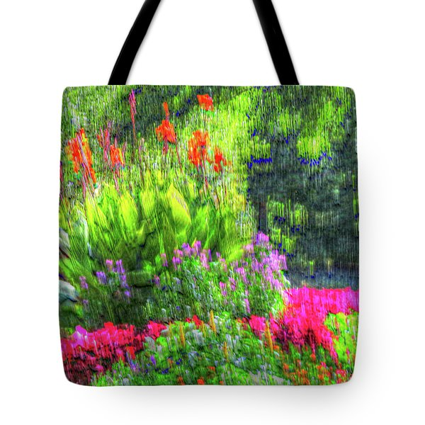 Tote Bag featuring the digital art Annual Garden by Kathleen Illes