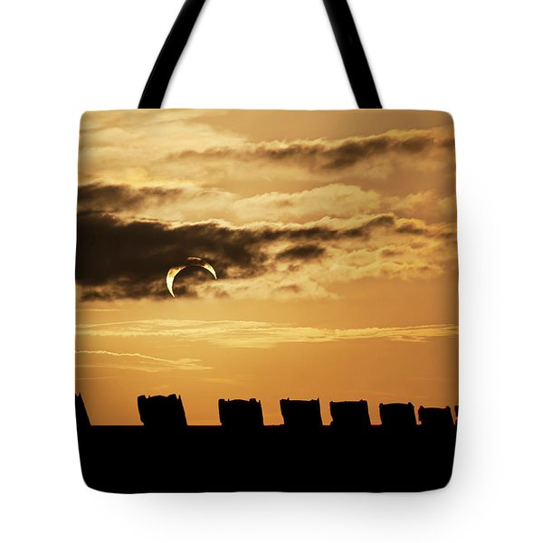 Annular Eclipse Over Cadillac Ranch Tote Bag